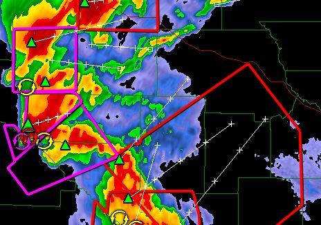 All the pretty colors... a radar image.