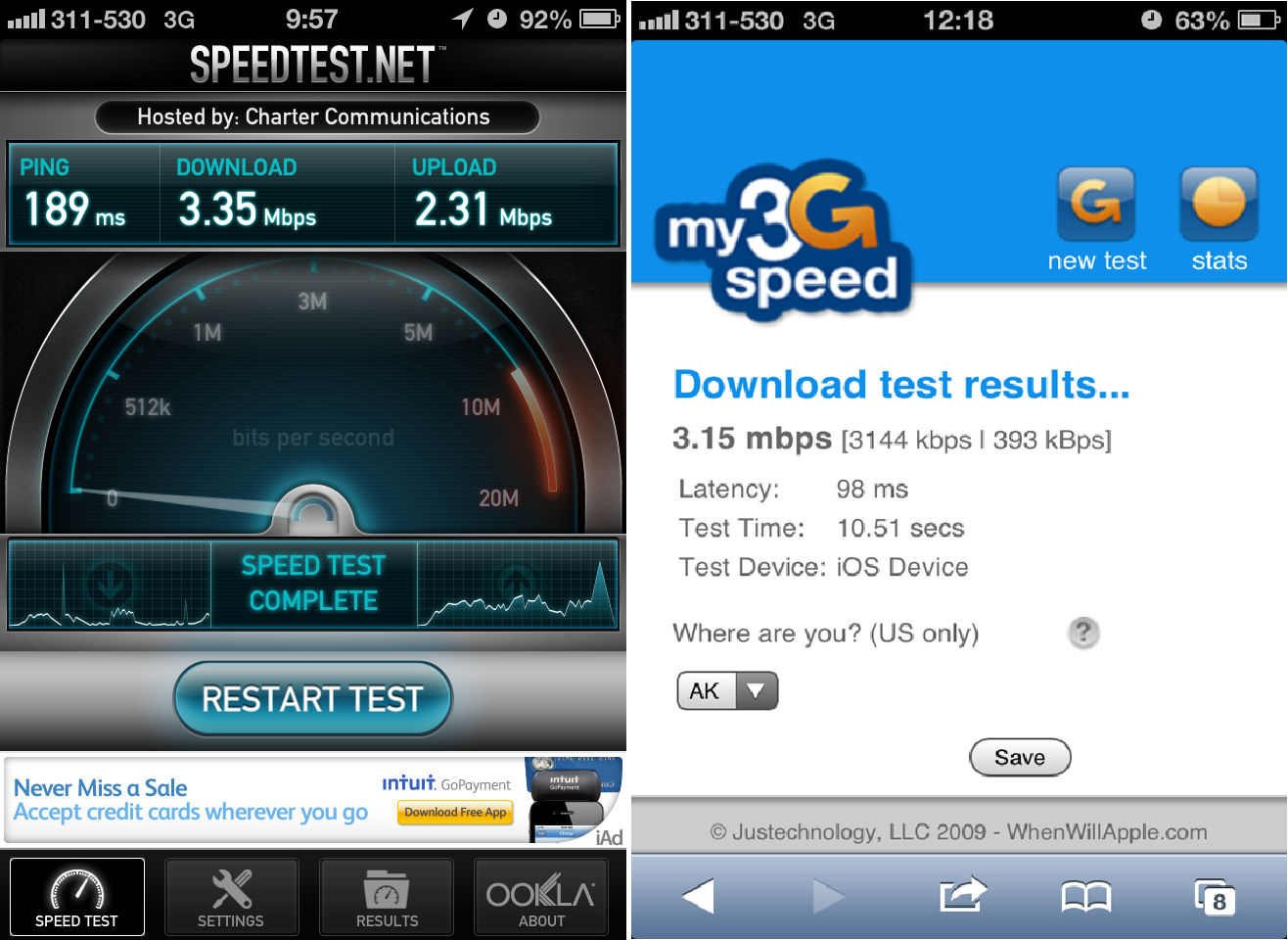 Speed Test Iphone