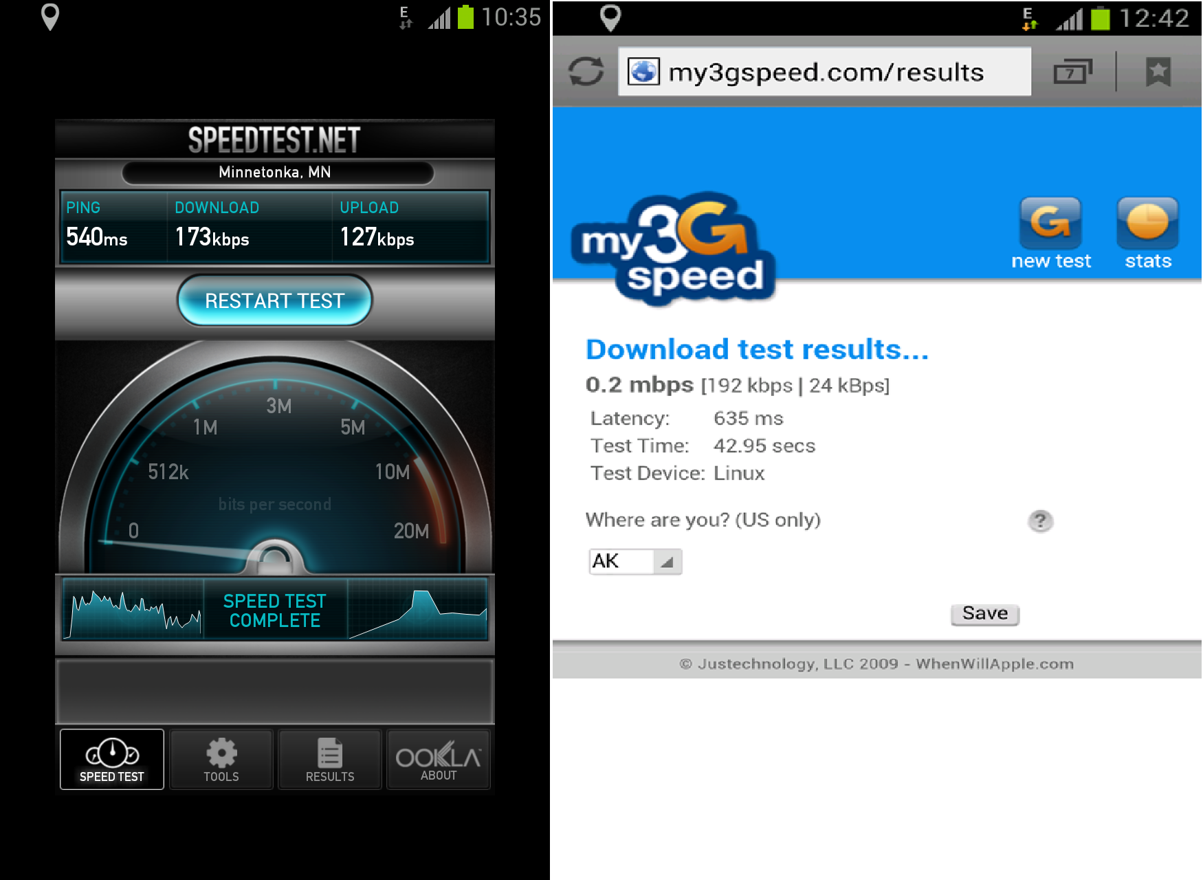 T-Mobile Speed Tests